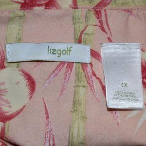 Liz Golf Tops - Liz Golf Silk Sleeveless Peach and Pink Top